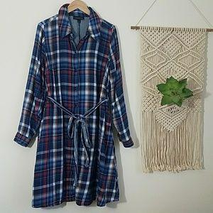 Lane Bryant Flannel Shirtdress